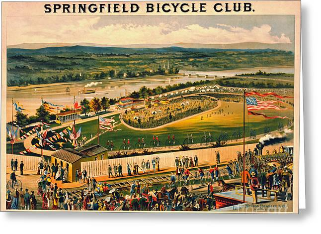 Bicycle Camp 1883 Greeting Card