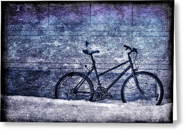 Bicycle Greeting Card by Evelina Kremsdorf