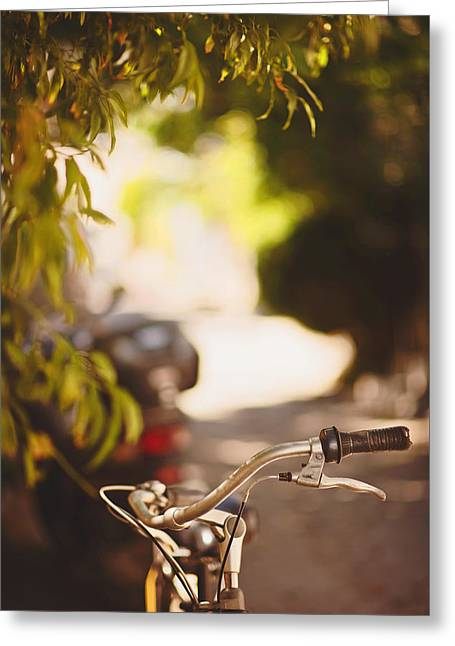 Bicycle In Bozcaada Greeting Card