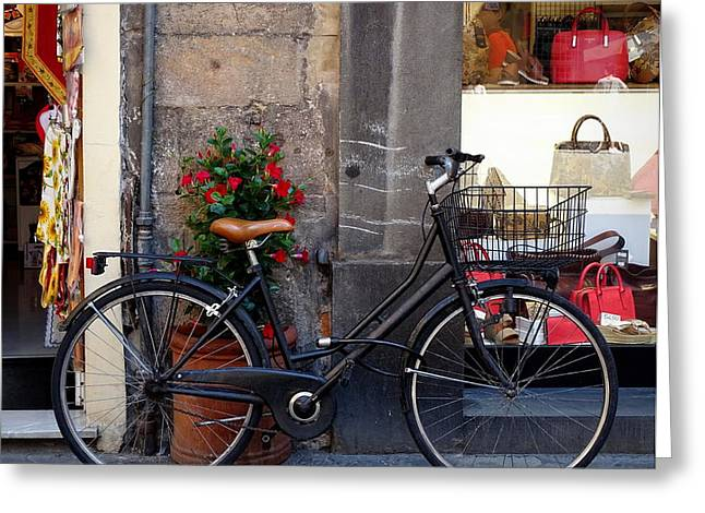 Bicycle In Lucca Greeting Card