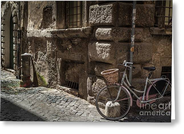 Bicycle In Rome, Italy Greeting Card