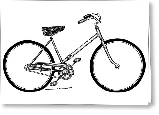 Bicycle Greeting Card by Karl Addison