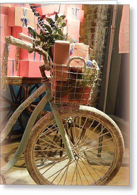 Bicycle Greeting Card by Linda Covino