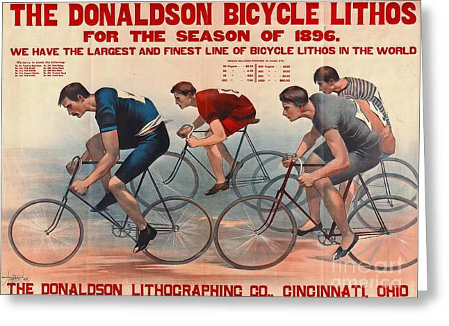 Bicycle Lithos Ad 1896 Greeting Card