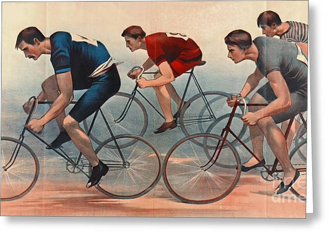 Bicycle Lithos Ad 1896nt Greeting Card