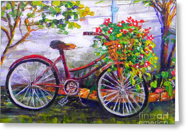 Bicycle Greeting Card by Lou Ann Bagnall