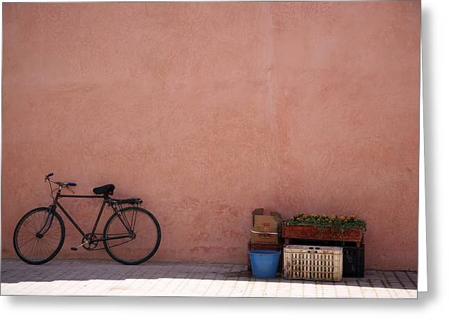 Bicycle Marrakech  Greeting Card by Pauline Cutler