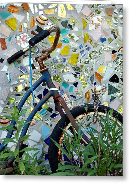 Bicycle Mosaic Greeting Card