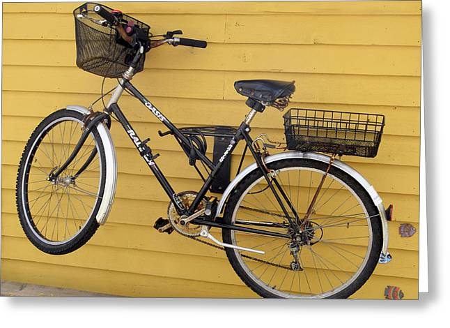 Bicycle On A Float House Victoria British Columbia Greeting Card by Barbara Snyder
