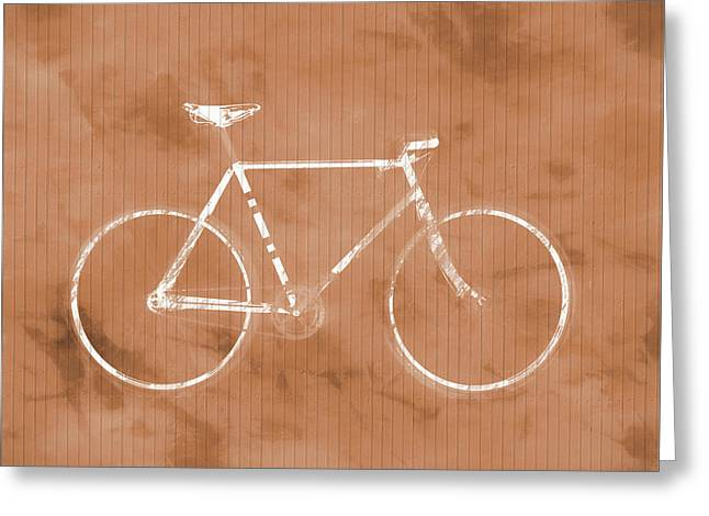 Bicycle On Tile Greeting Card