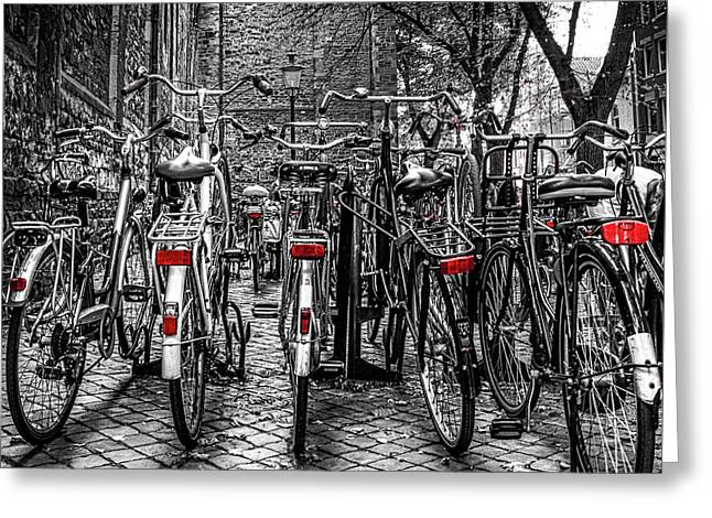Bicycle Park Greeting Card
