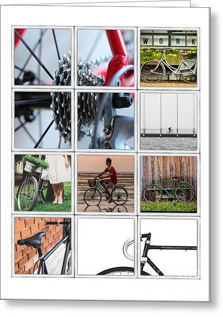 Bicycle Poster Greeting Card by Edward Fielding