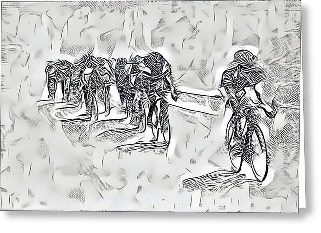 Bicycle Race Render Greeting Card