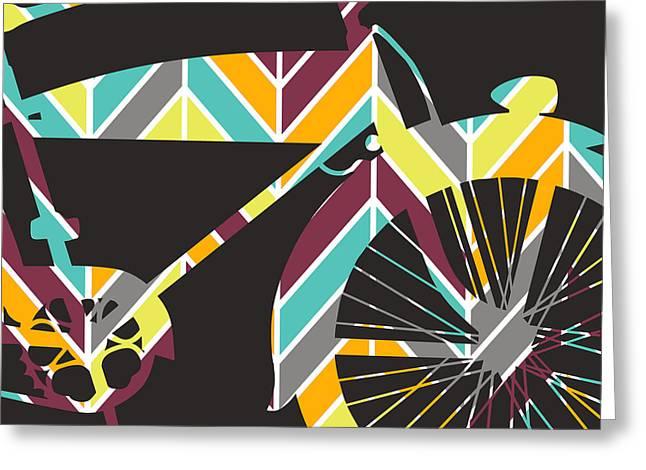 Bicycle V1 Greeting Card by Brandi Fitzgerald