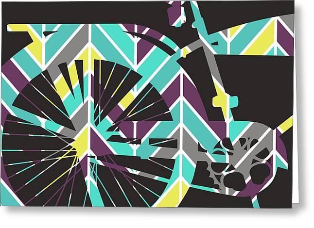 Bicycle V2 Greeting Card by Brandi Fitzgerald
