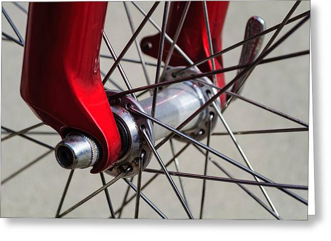 Bicycle Wheel Spoke Close Up Greeting Card by Billy Burdette