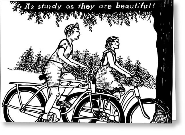 Bicycles - As Sturdy As They Are Beautiful Greeting Card by Karl Addison
