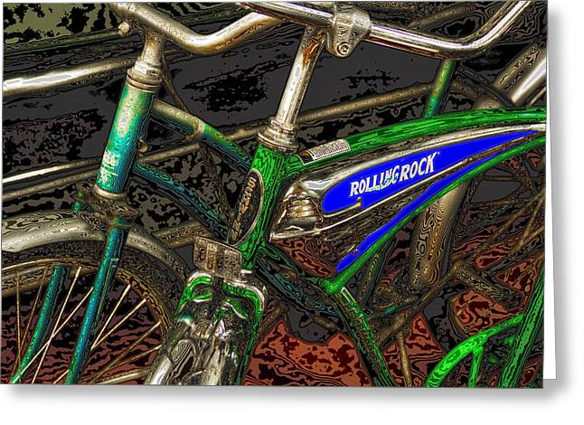 Bicycles Greeting Card by David Patterson