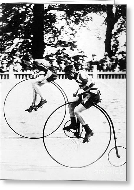 Bicycling Race, C1890 Greeting Card by Granger