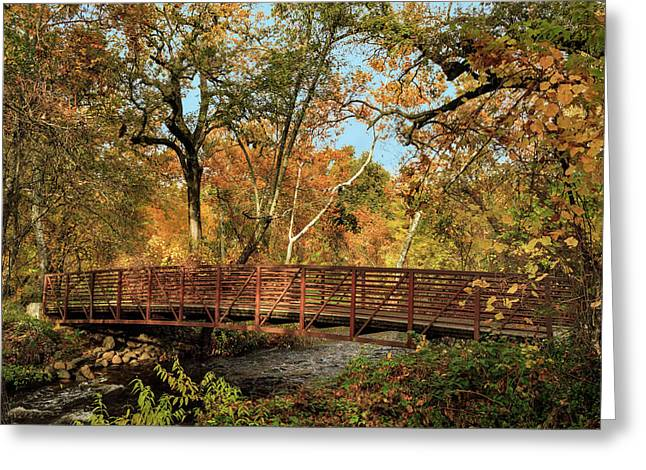 Greeting Card featuring the photograph Bidwell Park Bridge In Chico by James Eddy