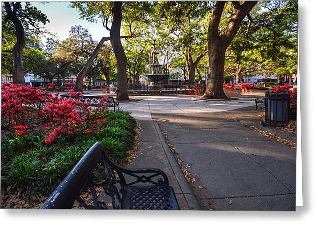 Bienville Square At Easter Greeting Card
