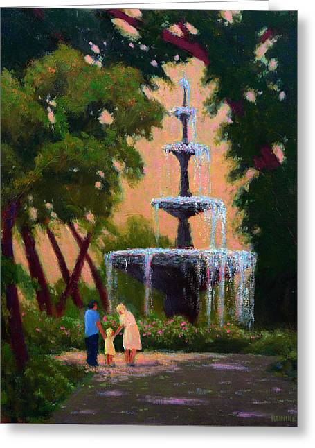 Bienville Square Fountain Greeting Card