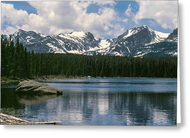Bierstadt Lake Hallett And Otis Peaks Rocky  Mountain National Park Greeting Card