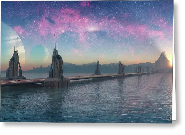 Bifrost Bridge Greeting Card