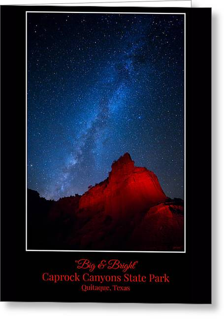 Big And Bright - Caprock Canyons Greeting Card by Stephen Stookey