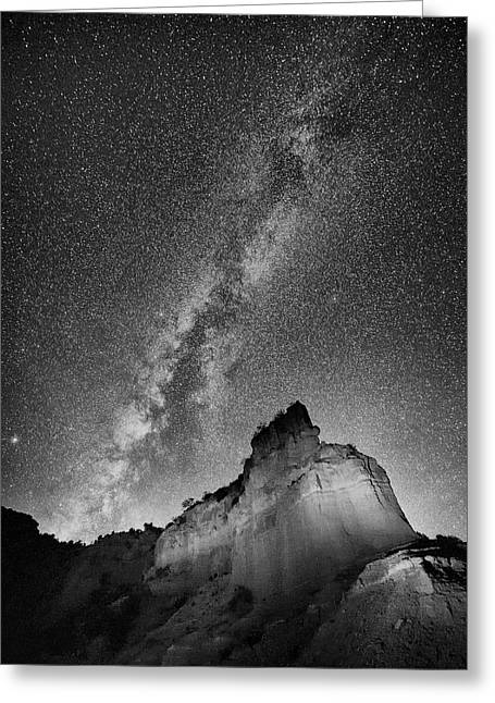 Greeting Card featuring the photograph Big And Bright In Black And White by Stephen Stookey