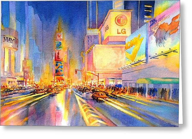 Big Apple Evening, No. 2 Greeting Card by Virgil Carter