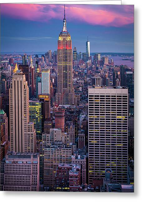 Big Apple Twilight Greeting Card