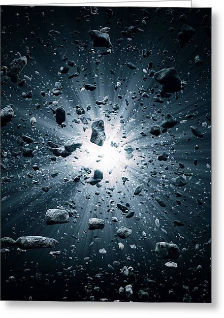 Big Bang Explosion In Space Greeting Card
