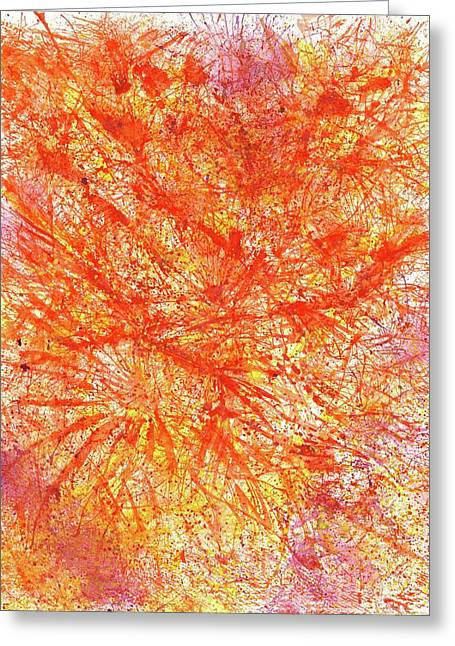 Big Bang - The Birth Of My Art #105 Greeting Card by Rainbow Artist Orlando L aka Kevin Orlando Lau