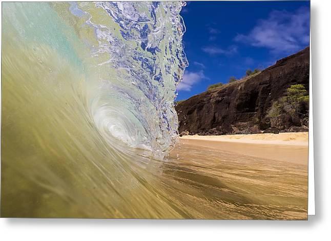 Big Beach Maui Shore Break Wave Greeting Card by Dustin K Ryan