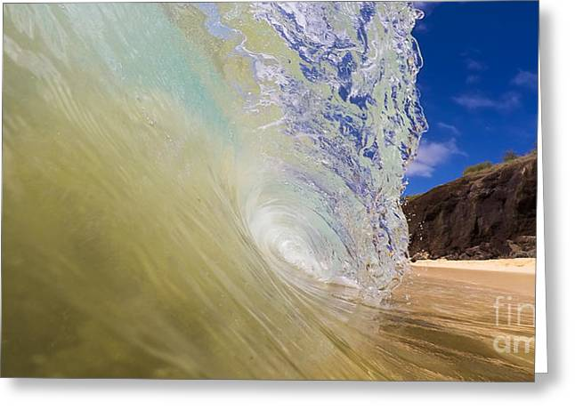 Big Beach Maui Shore Break Wave Wide  Greeting Card by Dustin K Ryan