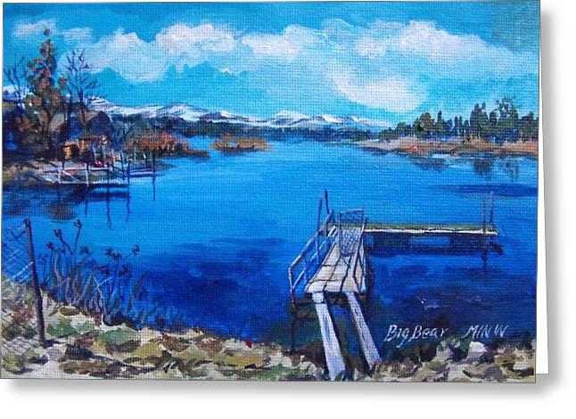Big Bear Lake 1 Greeting Card by Min Wang