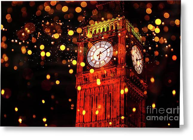 Big Ben Aglow Greeting Card