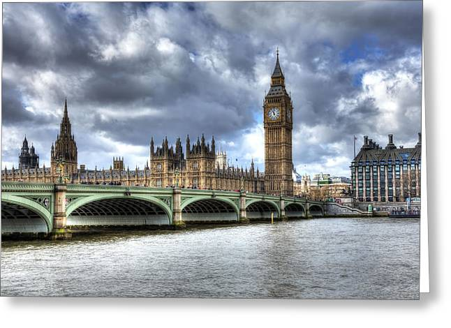 Greeting Card featuring the photograph Big Ben And Thames by Shawn Everhart