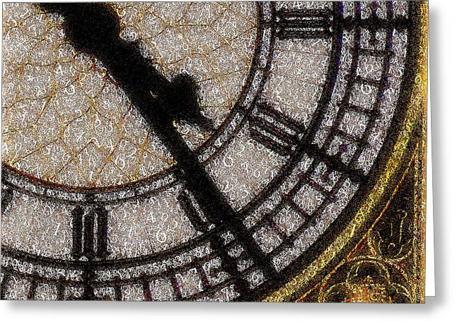 Big Ben Clock Color By Numbers 20161115v2 Greeting Card