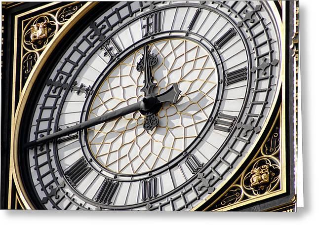 Big Ben Clock Face, London, Uk Greeting Card