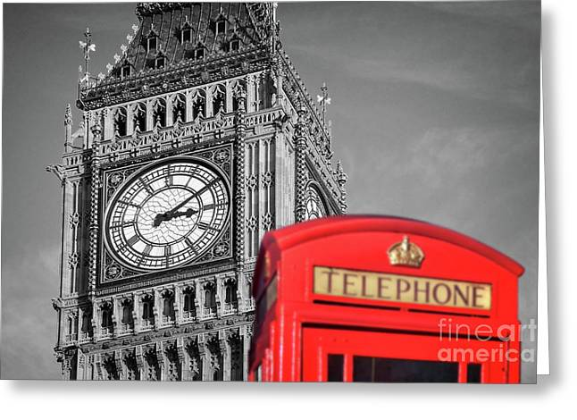 Big Ben Greeting Card by Delphimages Photo Creations