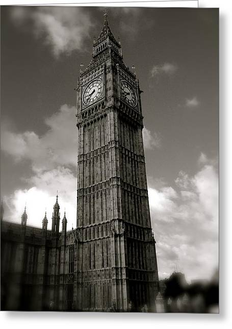 Big Ben Greeting Card by John Colley