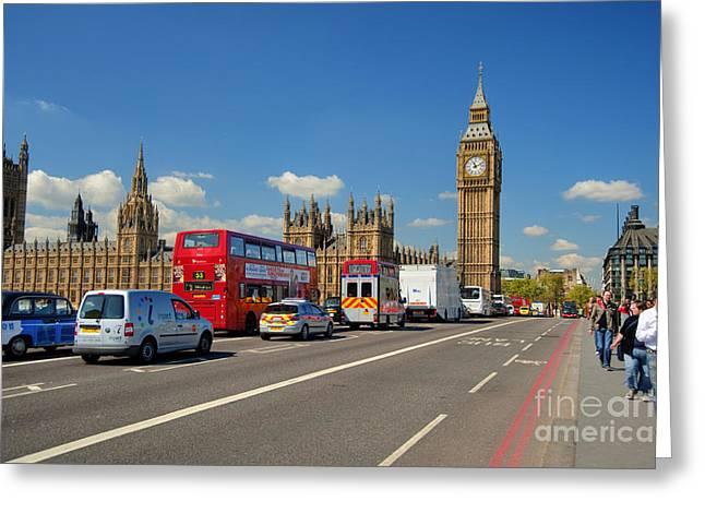 Big Ben London Greeting Card by Donald Davis