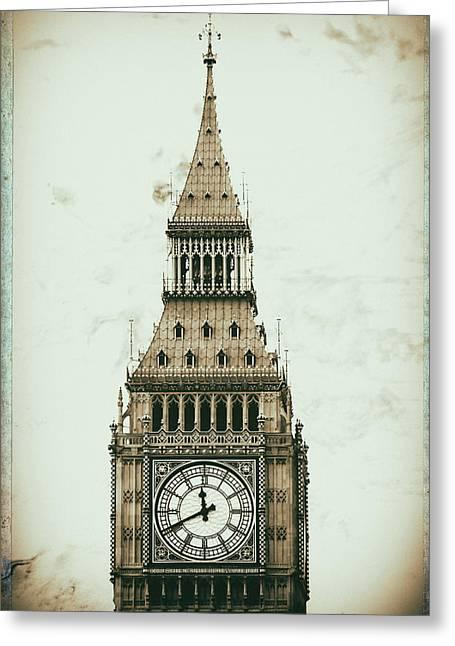 Big Ben Greeting Card by Martin Newman