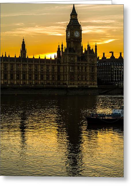 Big Ben Tower Golden Hour In London Greeting Card