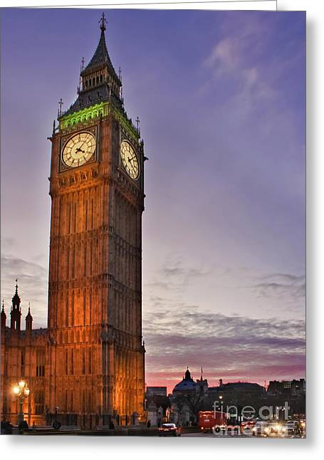 Greeting Card featuring the photograph Big Ben Twilight In London by Terri Waters