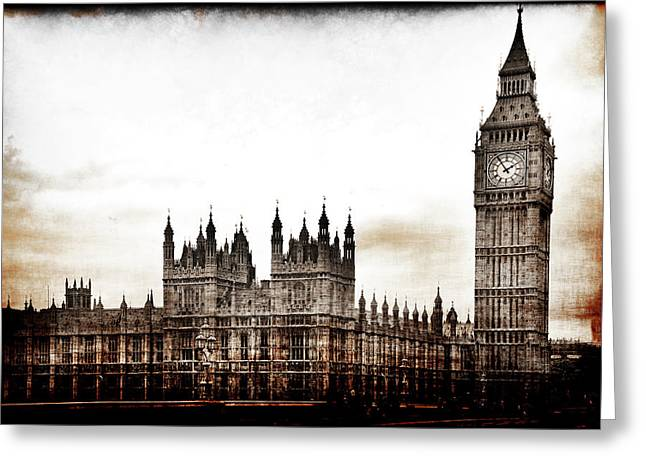 Big Bend And The Palace Of Westminster Greeting Card