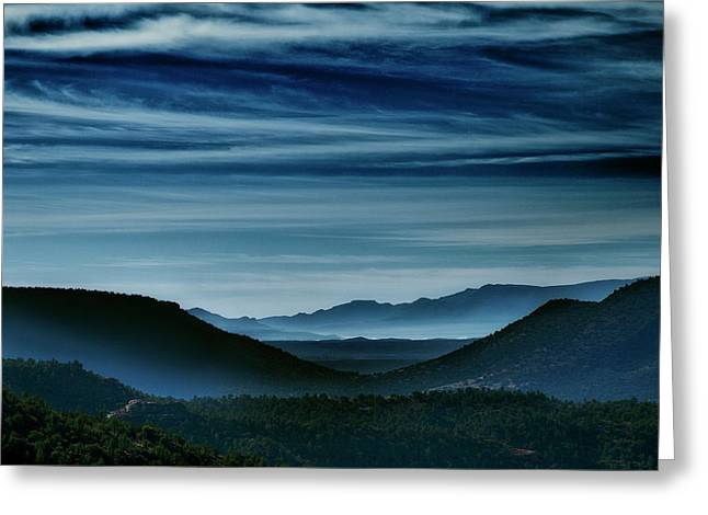 Big Bend At Dusk Greeting Card