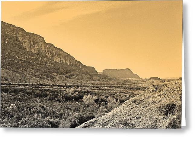 Big Bend Natinal Park At Sunset Greeting Card by M K  Miller
